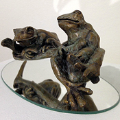Marnie Sinclair Bronze Frogs on Mirror