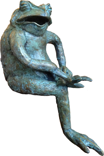 Marnie Sinclair Bronze Large Sitting Frog