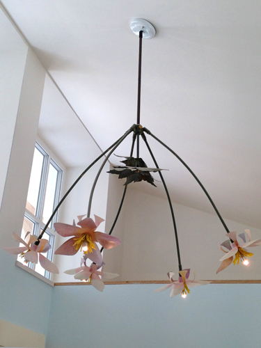 Marnie Sinclair mixed media sculpture Japanese Anenome Chandelier