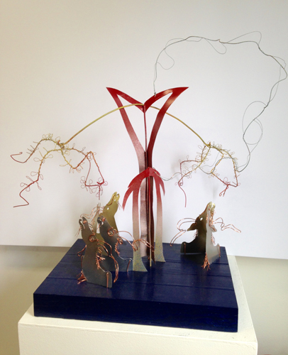 Marnie Sinclair mixed media sculpture — Trees Communicating
