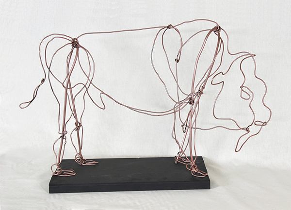 Marnie Sinclair wire sculpture of a buffalo