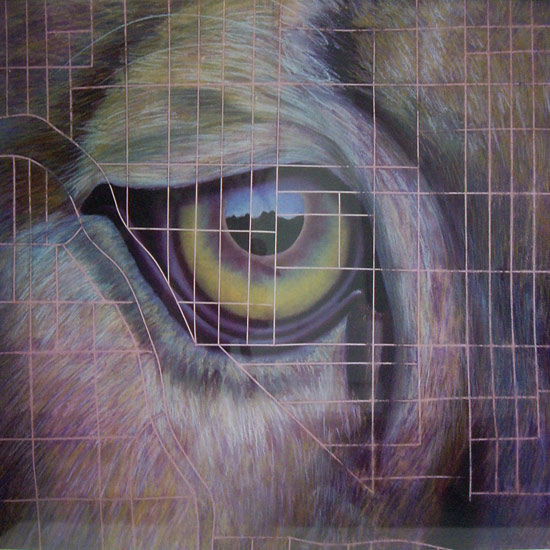 Marnie Sinclair pastel painting Past Eye